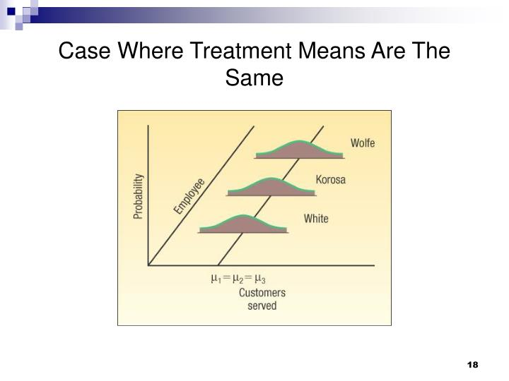 Case Where Treatment Means Are The Same