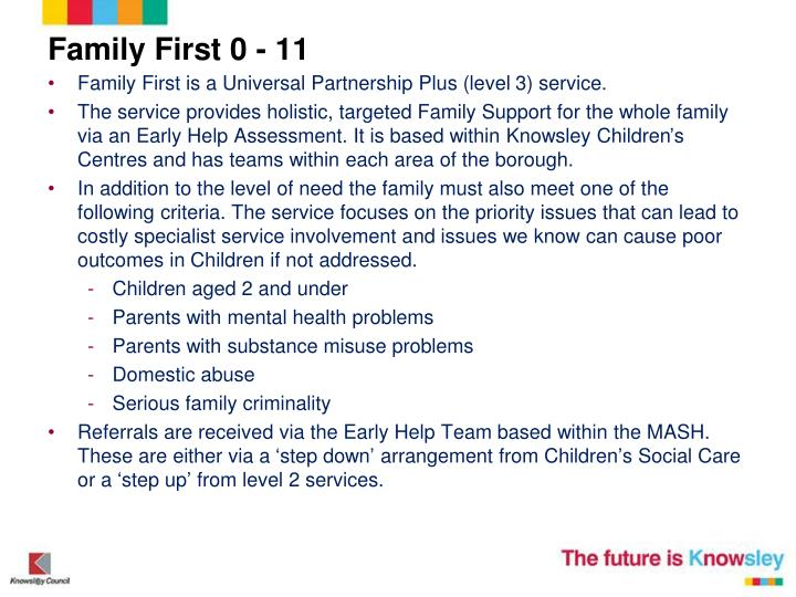 Family First 0 - 11