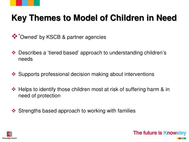 Key Themes to Model of Children in Need