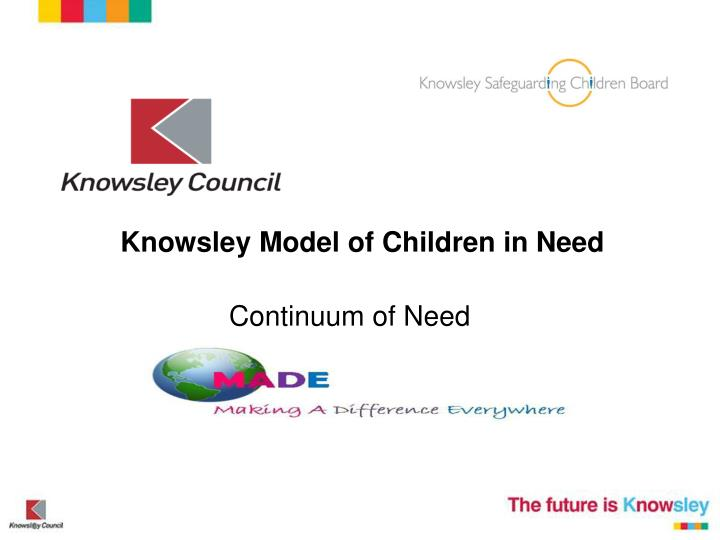 Knowsley Model of Children in Need