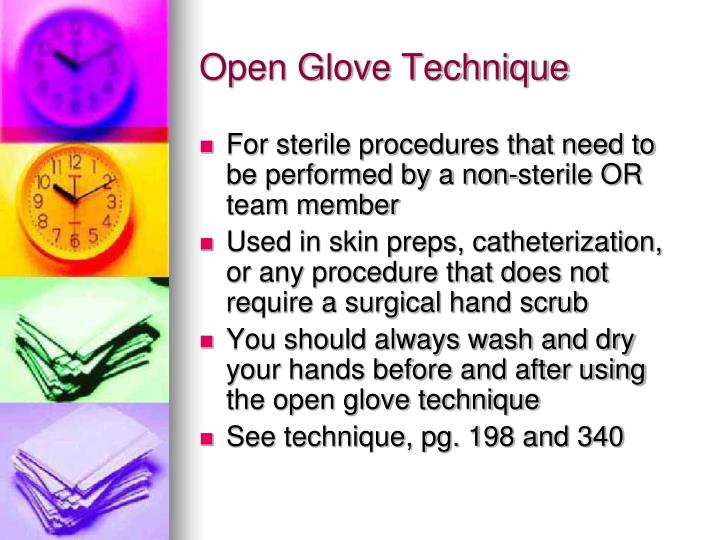 Open Glove Technique