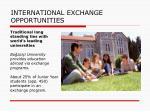 international exchange opportunities