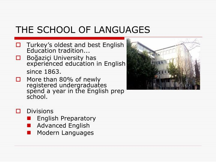 THE SCHOOL OF LANGUAGES