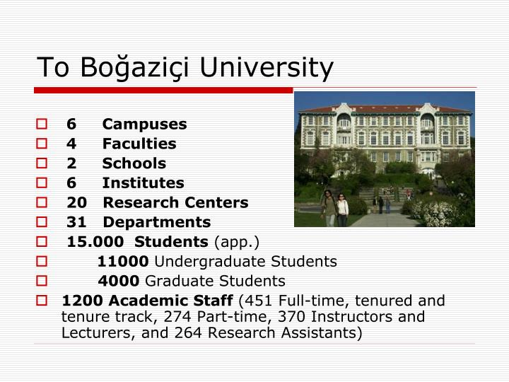 To Boğaziçi University