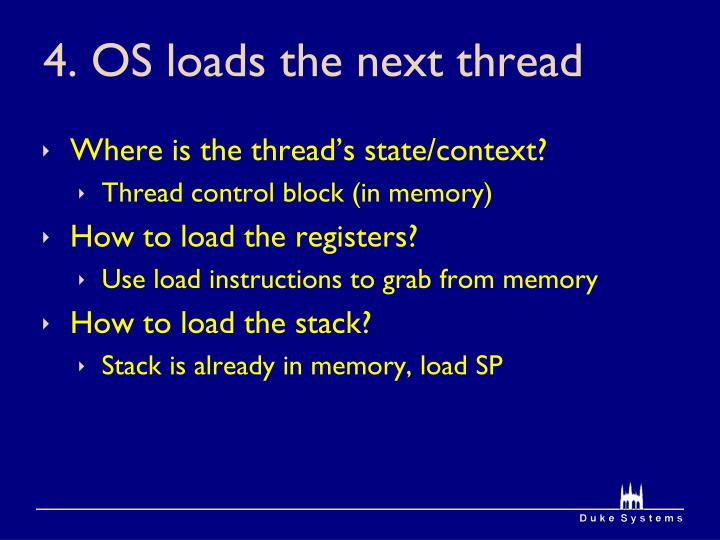 4. OS loads the next thread