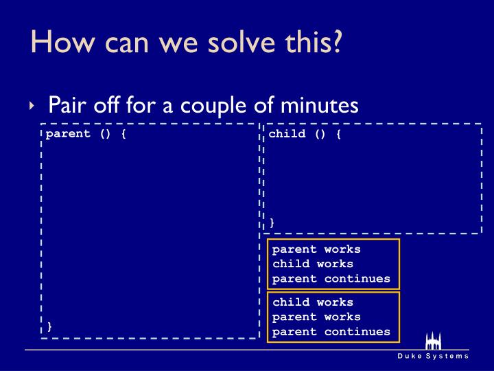 How can we solve this?