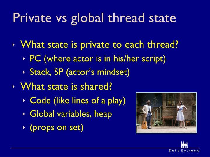 Private vs global thread state