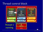thread control block