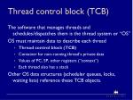 thread control block tcb
