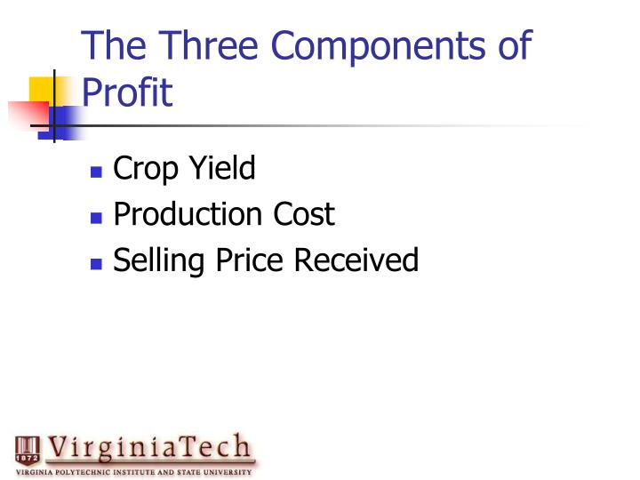 The Three Components of Profit