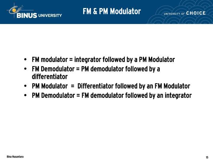 FM & PM Modulator