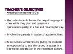 teacher s objectives