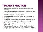 teacher s practices