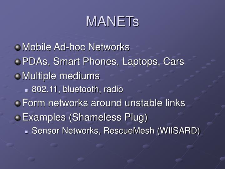 MANETs