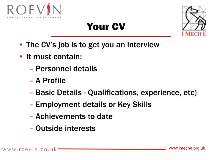 Your CV