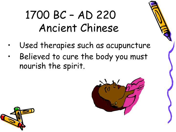 1700 BC – AD 220