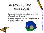 ad 800 ad 1400 middle ages