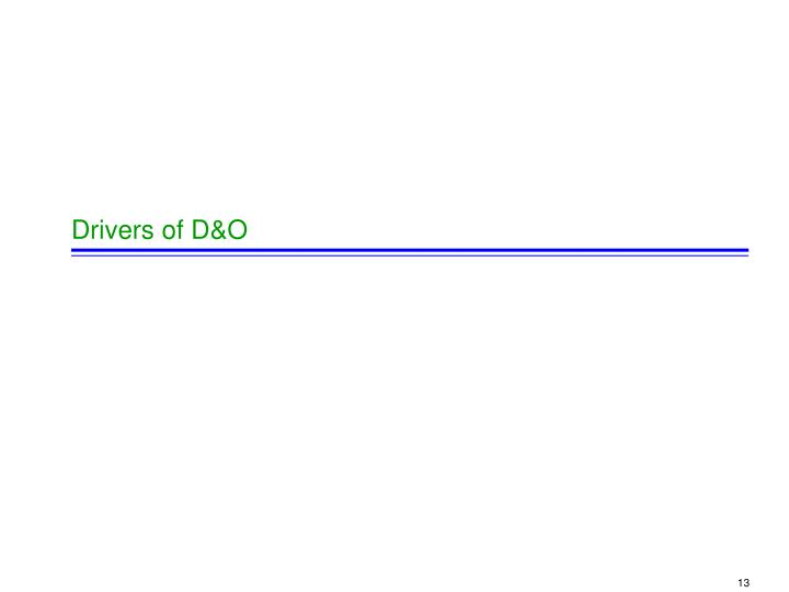 Drivers of D&O
