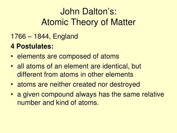 John Dalton's: