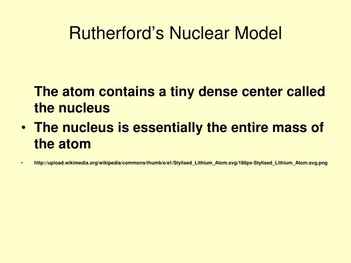Rutherford's Nuclear Model