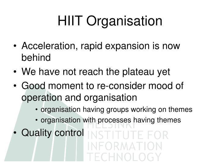 HIIT Organisation