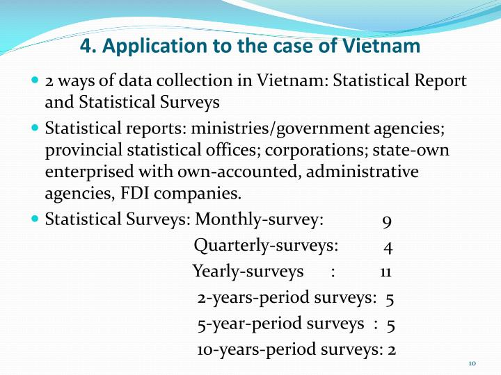 4. Application to the case of Vietnam