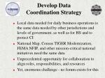 develop data coordination strategy