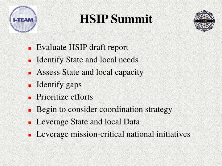 HSIP Summit