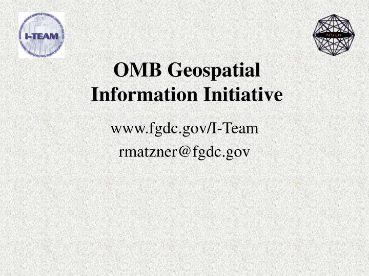OMB Geospatial