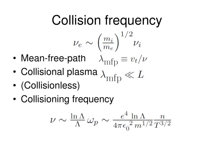 Collision frequency