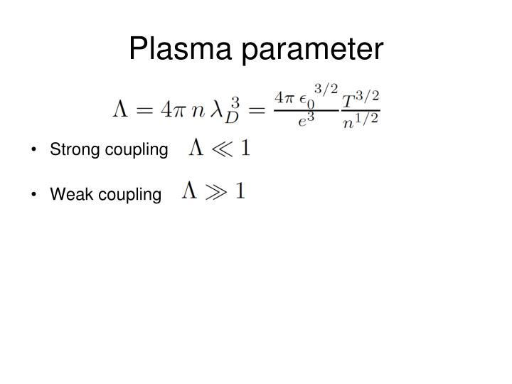Plasma parameter
