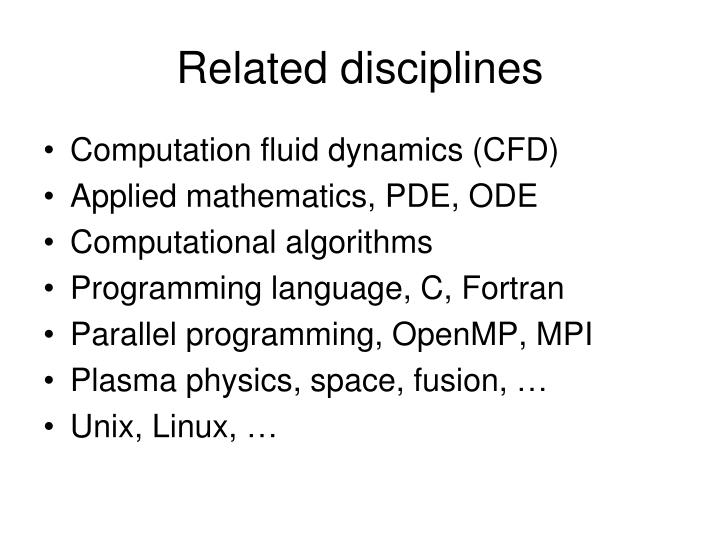Related disciplines