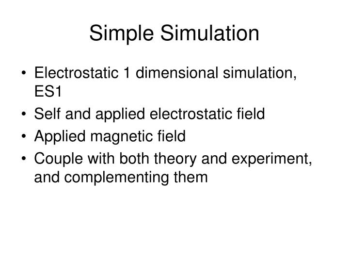 Simple Simulation