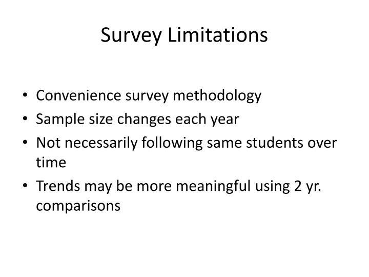 Survey Limitations