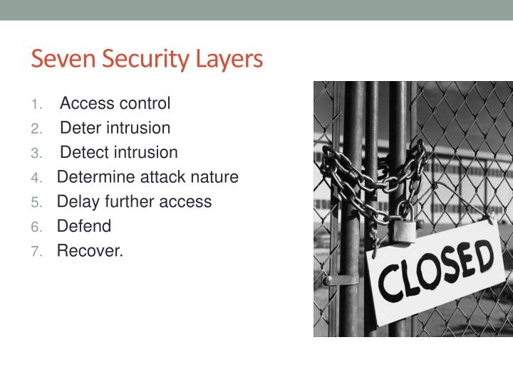 Seven Security Layers