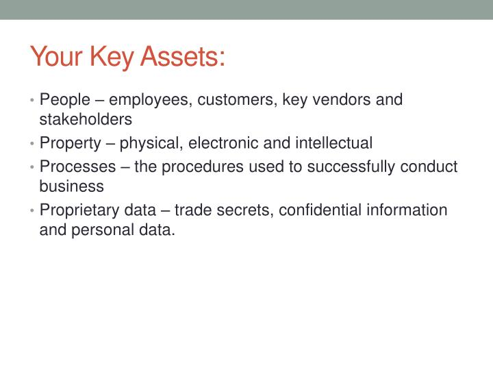 Your Key Assets: