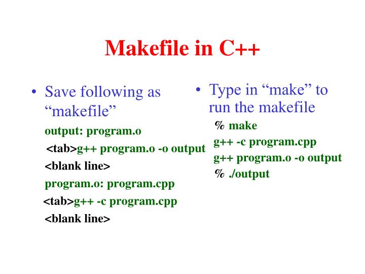 Makefile in C++