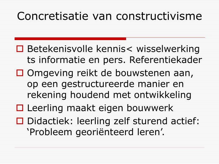 Concretisatie van constructivisme