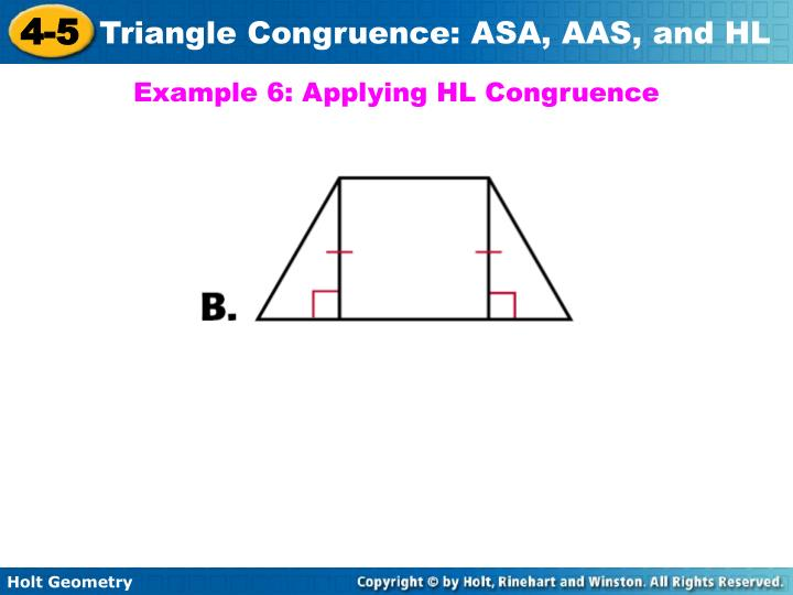 Example 6: Applying HL Congruence