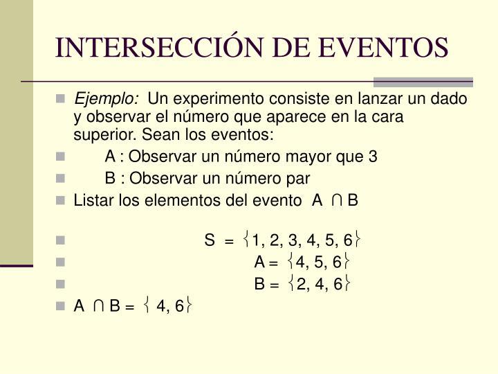 INTERSECCIÓN DE EVENTOS
