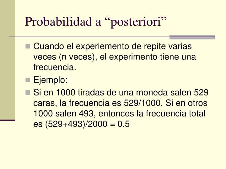 "Probabilidad a ""posteriori"""