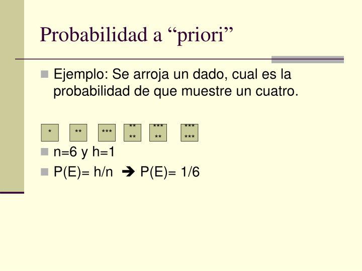 "Probabilidad a ""priori"""