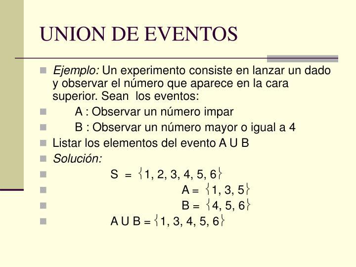 UNION DE EVENTOS