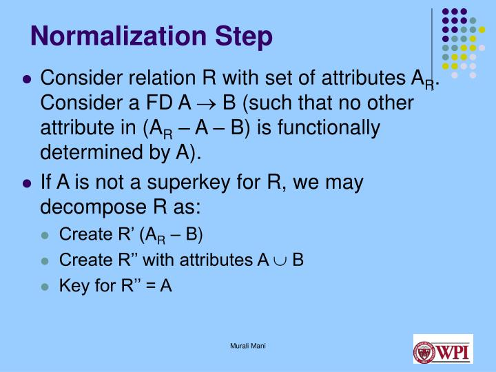 Normalization Step