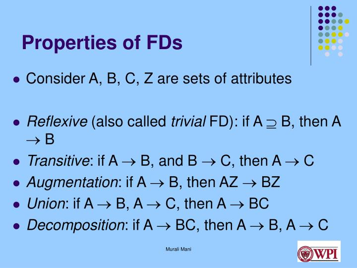 Properties of FDs