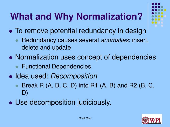 What and Why Normalization?