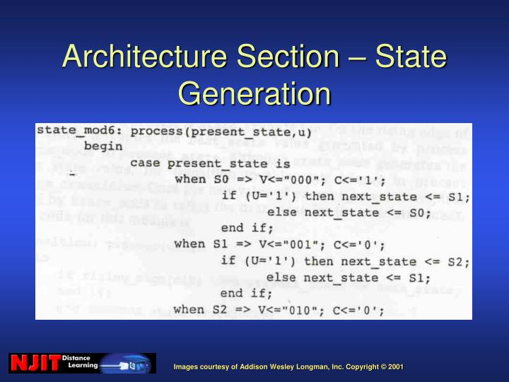 Architecture Section – State Generation