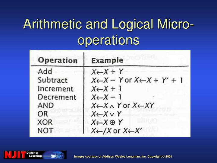 Arithmetic and Logical Micro-operations