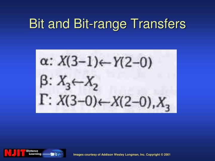 Bit and Bit-range Transfers