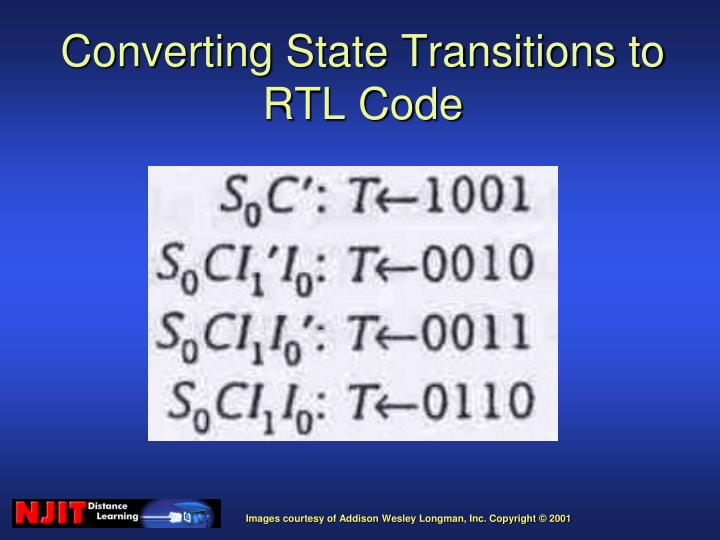 Converting State Transitions to RTL Code